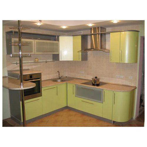 Кухни угловые большие салатные фото